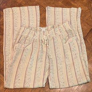 {Billabong}Sz Junior L Elastic Waist Pants w/Tie